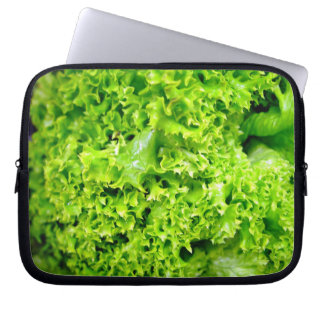 Green Hydroponic lettuce leaves Computer Sleeves