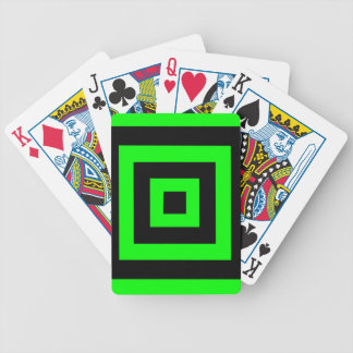 Green hypnotic geometry bicycle playing cards