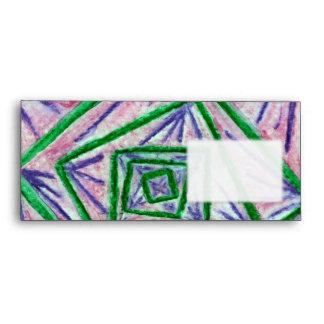 Green Hypnotic Squares Envelopes