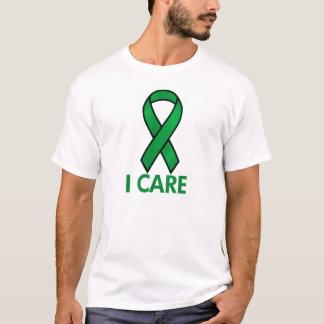 GREEN  I CARE AWARENESS RIBBON T-Shirt