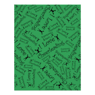 Green I love cheerleading Personalized Flyer