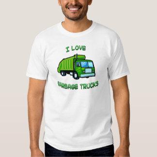 green I love garbage trucks T Shirt