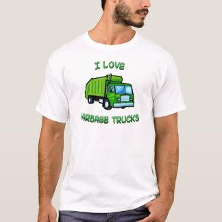 green I love garbage trucks T-Shirt