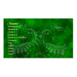 Green Ice Dragonheart Business Card Templates