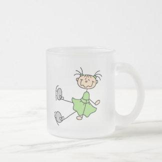 Green Ice Skating Girl Mug