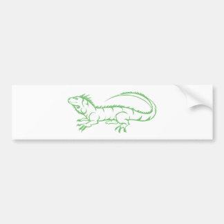 Green Iguana Bumper Sticker