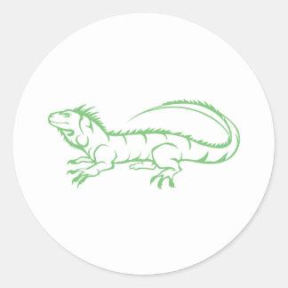 Green Iguana Classic Round Sticker
