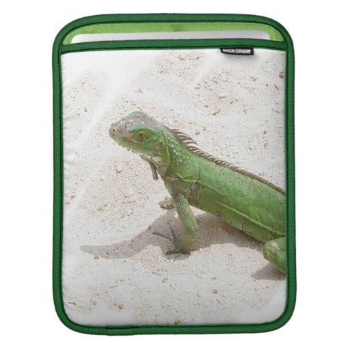Green Iguana Lizard iPad Sleeve