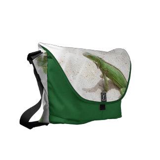 Green Iguana Lizard Messenger Bag