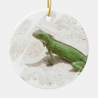 Green Iguana Lizard Ornament
