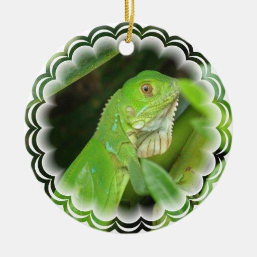 Green Iguana Ornament