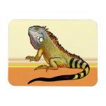 green iguana rectangular photo magnet