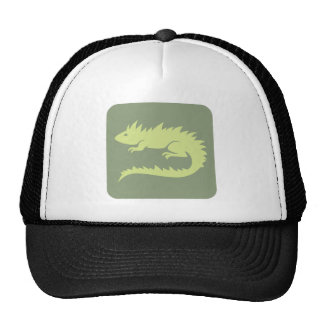 Green Iguana Reptile Icon Trucker Hat