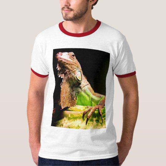 Green Iguana Ringer T-shirt