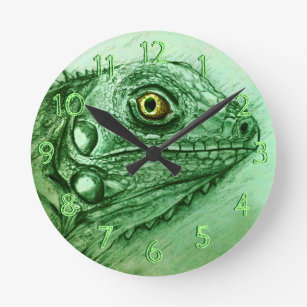 Lizard Wall Clocks Zazzle