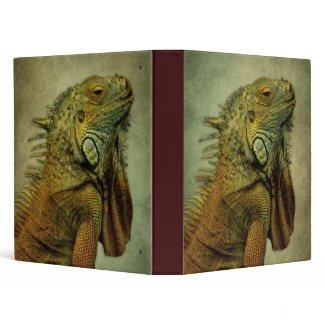 Green Iguana Vinyl Binder