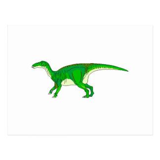 Green Iguanodon Postcards