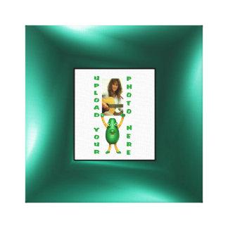 Green illusion photo border canvas wrap print stretched canvas print