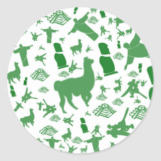 Green images of South America Classic Round Sticker