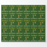 """[ Thumbnail: Green, Imitation Gold Look """"1st Birthday"""" Wrapping Paper ]"""