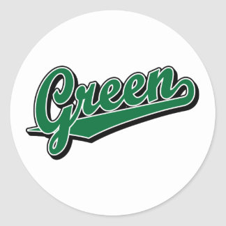 Green in Green Classic Round Sticker