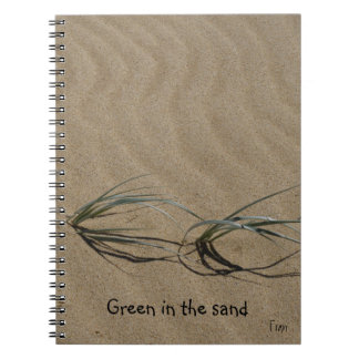 green in the sand notebook