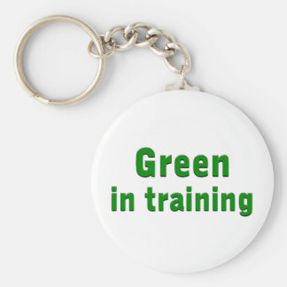 Green in Training Keychain