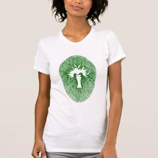 "Green ""INCENSE/INNER FLAME"" Womens T-shirt"