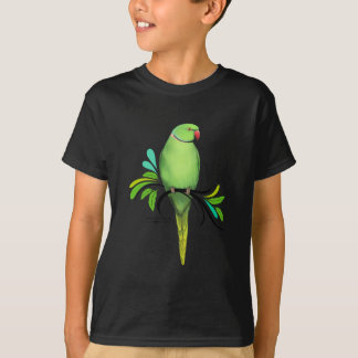 Green Indian Ringneck Parrot T-Shirt