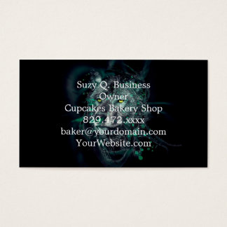 Green indian wolf business card
