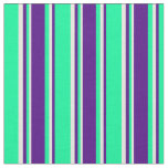 [ Thumbnail: Green, Indigo, and Beige Colored Pattern Fabric ]