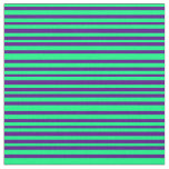 [ Thumbnail: Green & Indigo Colored Pattern Fabric ]
