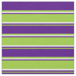 [ Thumbnail: Green, Indigo & Lavender Colored Pattern Fabric ]