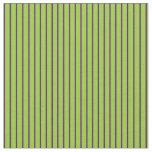 [ Thumbnail: Green & Indigo Lined/Striped Pattern Fabric ]