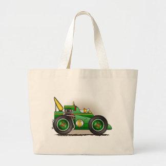 Green Indy Race Car Bags/Totes Jumbo Tote Bag
