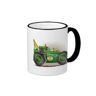 Green Indy Race Car Mugs