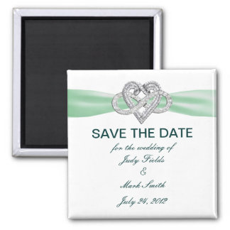 Green Infinity Heart Save The Date Magnet