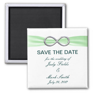 Green Infinity Wedding Save The Date Magnet