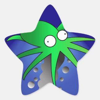 Green Ink Star Sticker