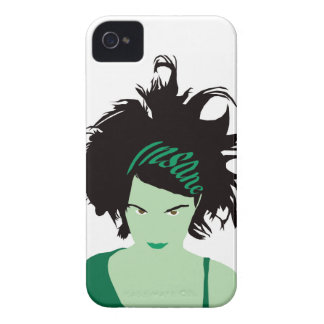 Green Insane Girl Case-Mate iPhone 4 Cases