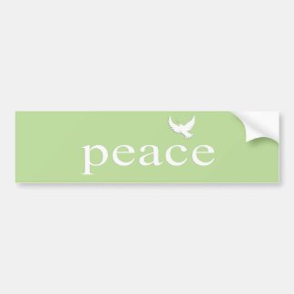Green Inspirational Peace Quote Car Bumper Sticker