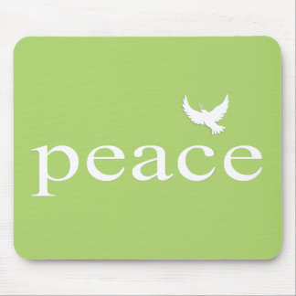 Green Inspirational Peace Quote Mouse Pad