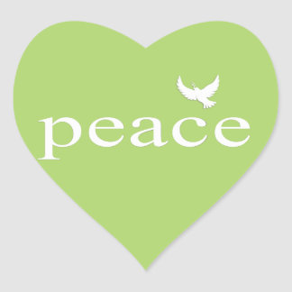 Green Inspirational Peace Quote Stickers