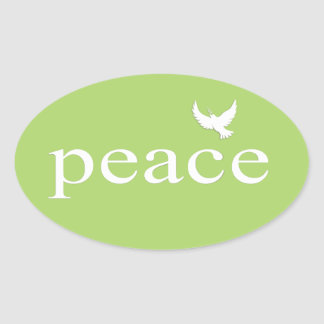 Green Inspirational Peace Quote Sticker