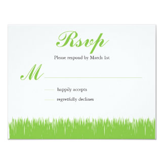 Green Inspired RSVP Card