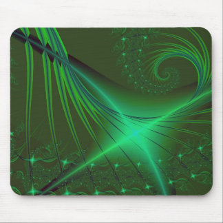 Green Interrumpted Mouse Pad