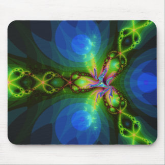 Green Invasion Fractal Mouse Pad
