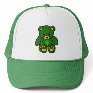 Green Irish Bear hat