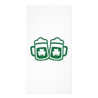 Green irish beer card