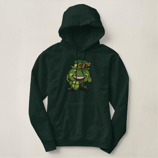 Green Irish Beer Embroidered Hoodie
